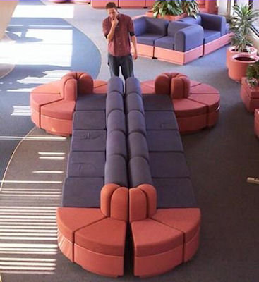 Interesting shaped couch