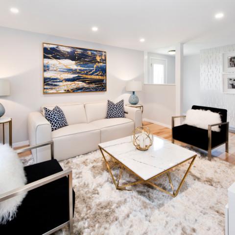 Hollywood Glam Living Room Ottawa