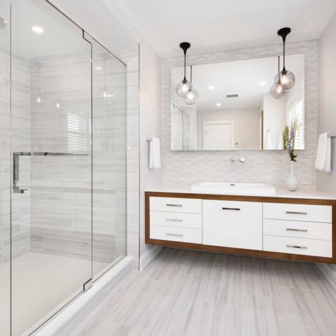 Modern White Bathroom Ottawa